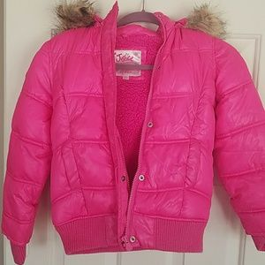 Justice Hot Pink Puffy Coat